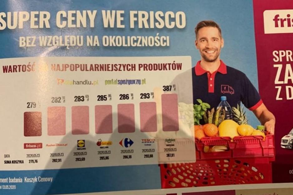 Frisco.pl posługuje się notowaniami Koszyka cen dlahandlu.pl, których nie było