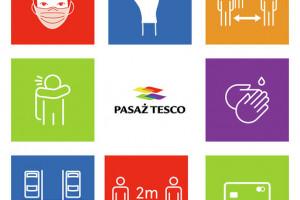 Pasaże Tesco z kampanią informacyjną  #bliskoibezpiecznie