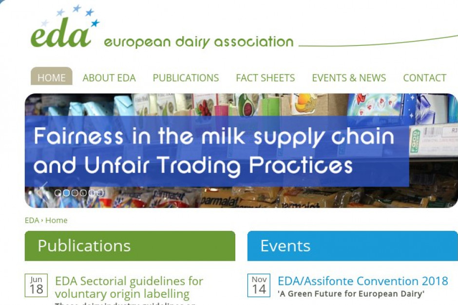 EDA proponuje rozszerzenie prywatnego przechowywania produktów mlecznych
