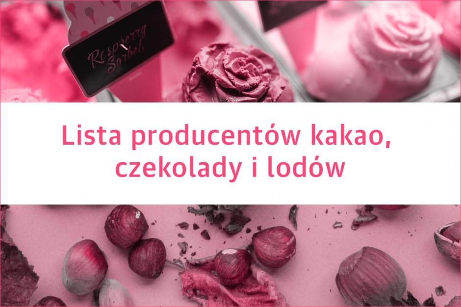 Lista producentów kakao, czekolady i lodów - edycja 2020