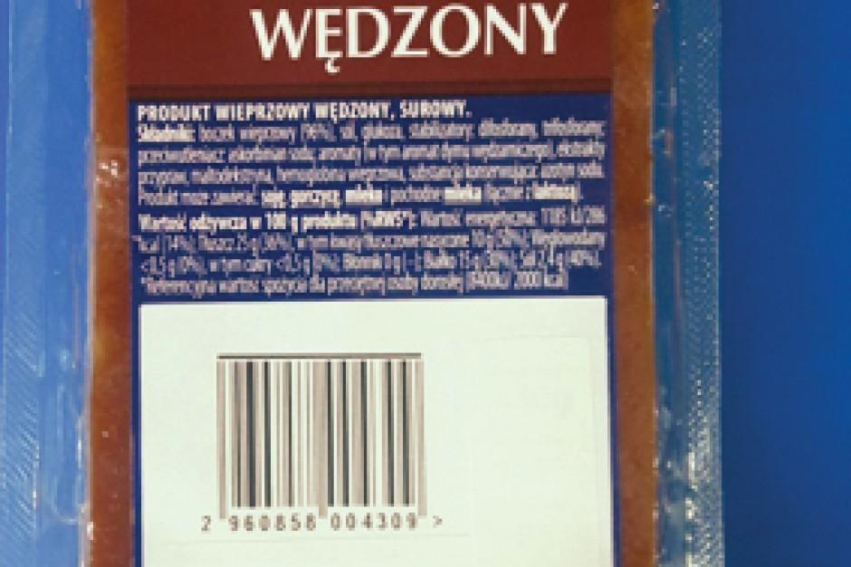 GIS ostrzega przed spożywaniem wędzonego boczku marki Kraina Wędlin
