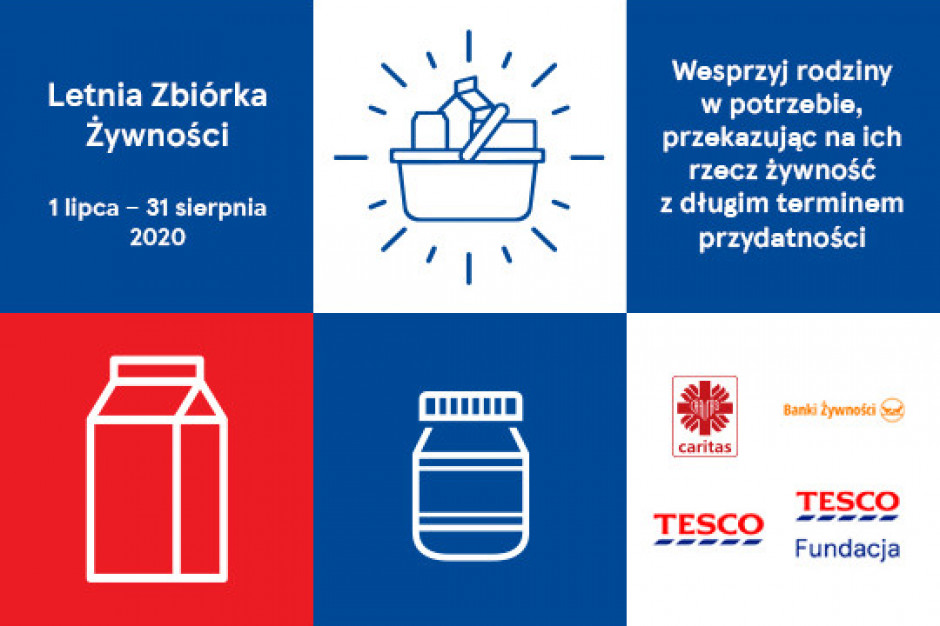 Letnia zbiórka żywności Caritas Polska potrwa do 31 sierpnia