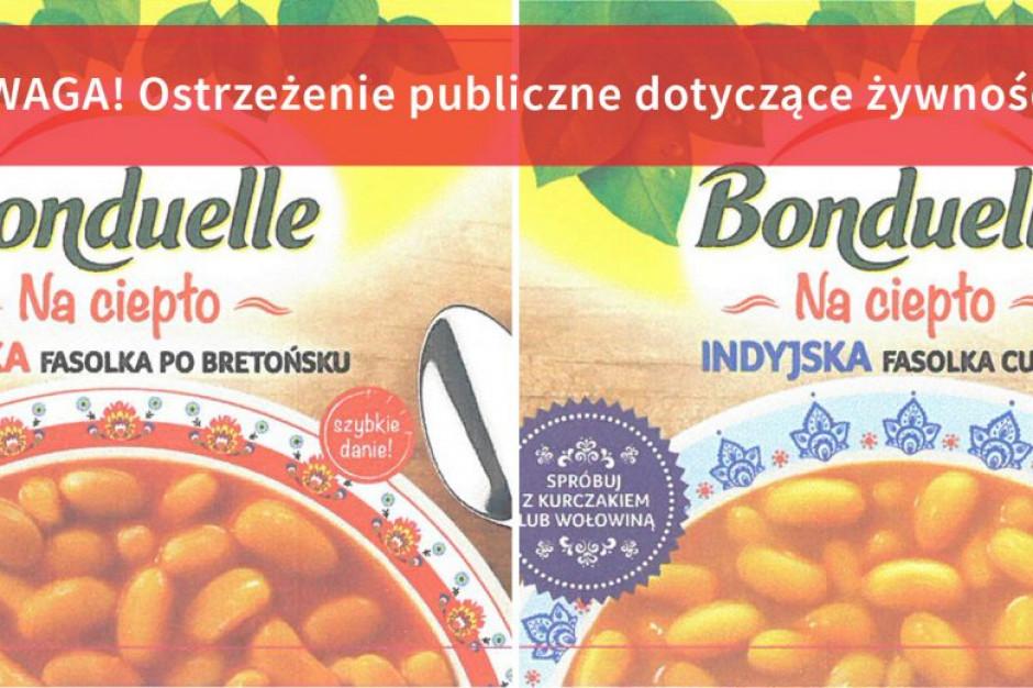 Bonduelle wycofuje z rynku dwa rodzaje fasolki