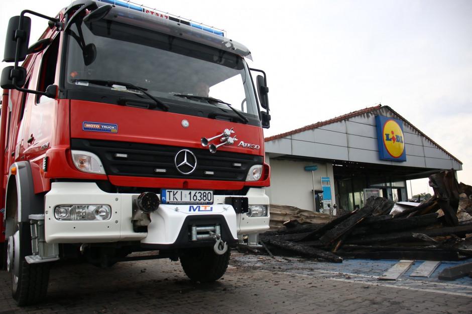 Śledztwo ws. pożaru Lidla przy ulicy Piekoszowskiej