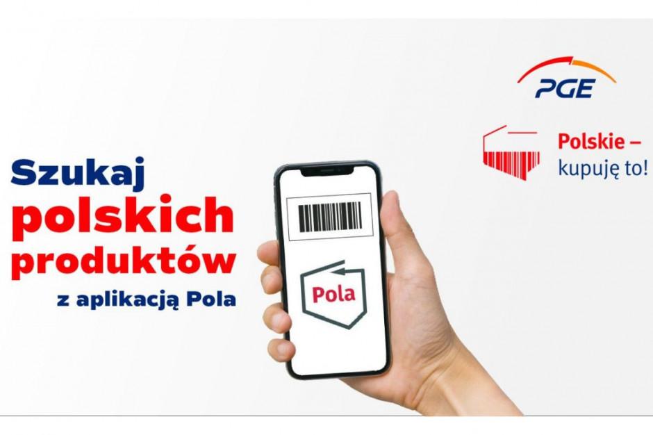 """PGE wspiera rozwój aplikacji Pola w ramach akcji """"Polskie – kupuję to!"""""""