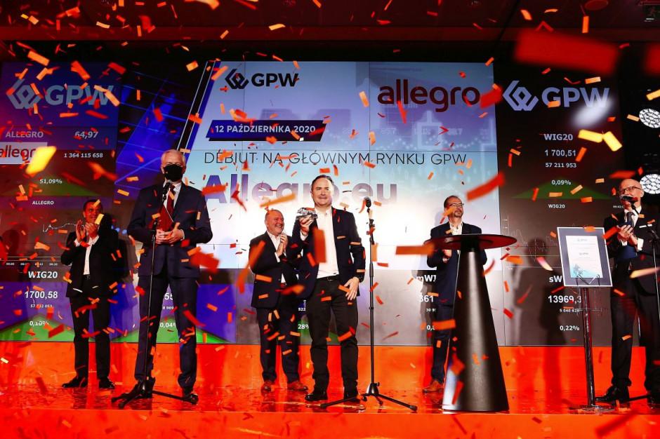 GPW przekaże dochód z obrotów akcjami Allegro na walkę z COVID-19