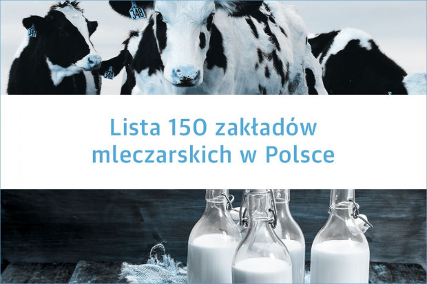 Lista 150 zakładów mleczarskich w Polsce - edycja 2020