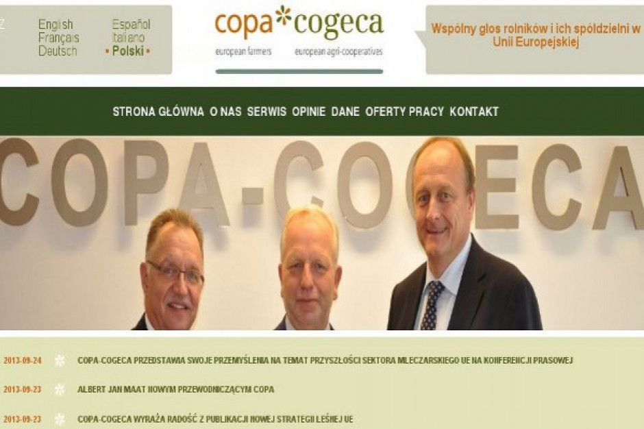 Copa-Cogeca podsumowuje 2020 rok