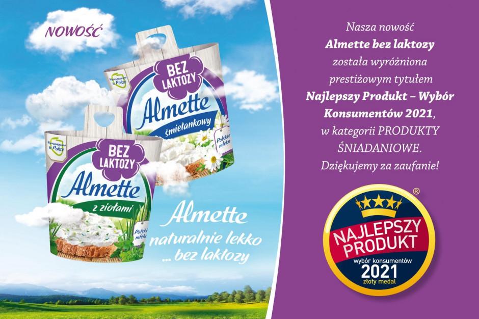 Almette bez laktozy Najlepszym Produktem 2021