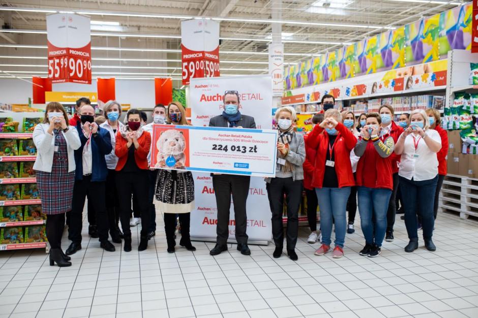 Auchan wspiera Stowarzyszenie SOS Wioski Dziecięce
