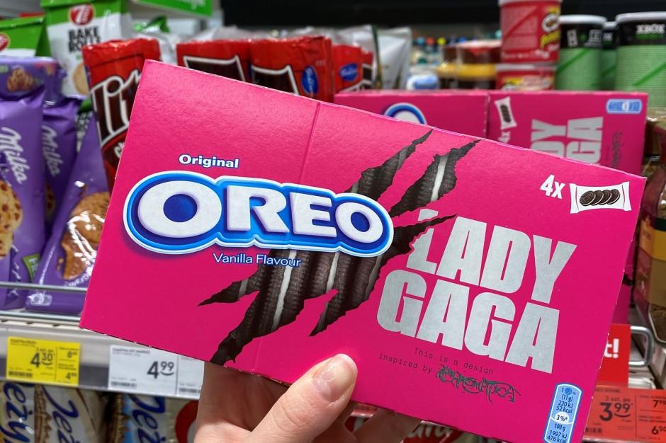Ciastka Oreo w Żabce w opakowaniu stworzonym przez Lady Gagę
