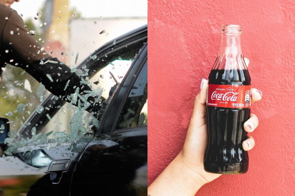 Wrocław: Wybił szybę w aucie, by ukraść Coca-Colę