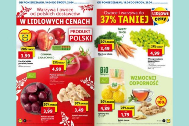 Dyskonty przeceniają polskie jabłka i pomidory malinowe