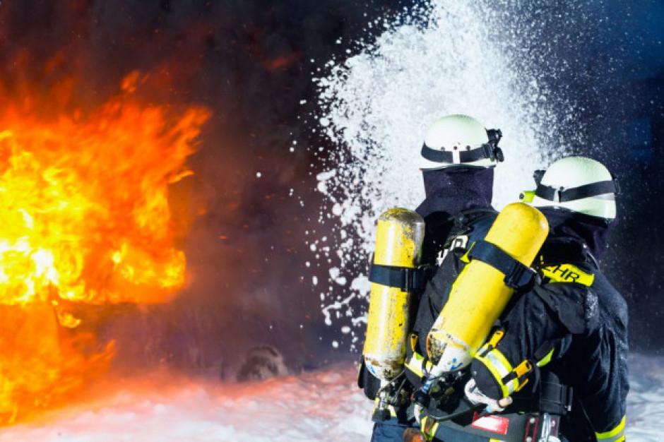 Pożar w zakładzie ERG w Dąbrowie Górniczej
