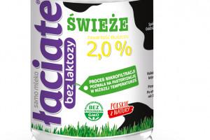 Mleko Łaciate 2 proc. w rodzinie produktów bez laktozy