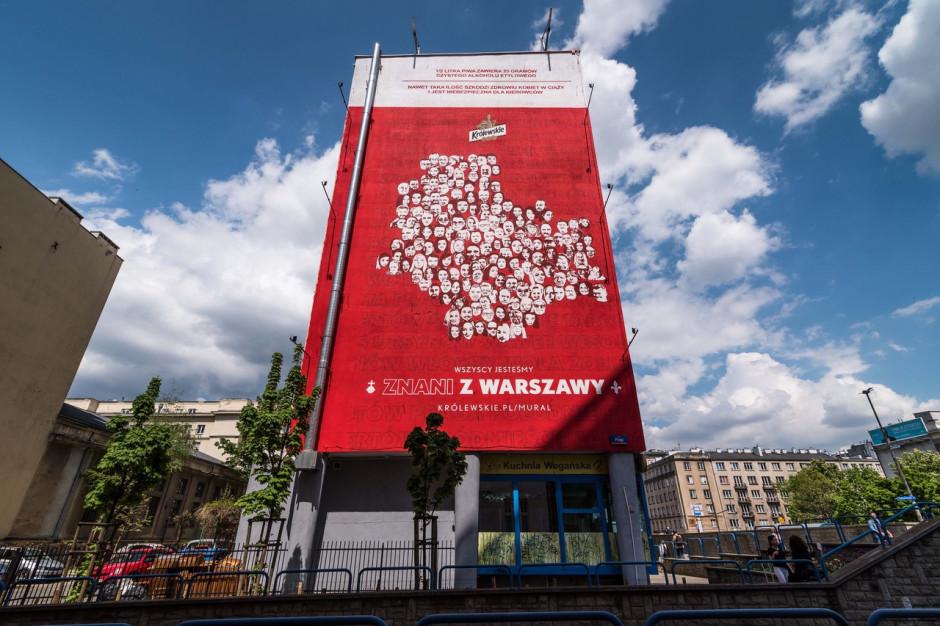 Marka Królewskie stworzyła wielki mural w centrum Warszawy