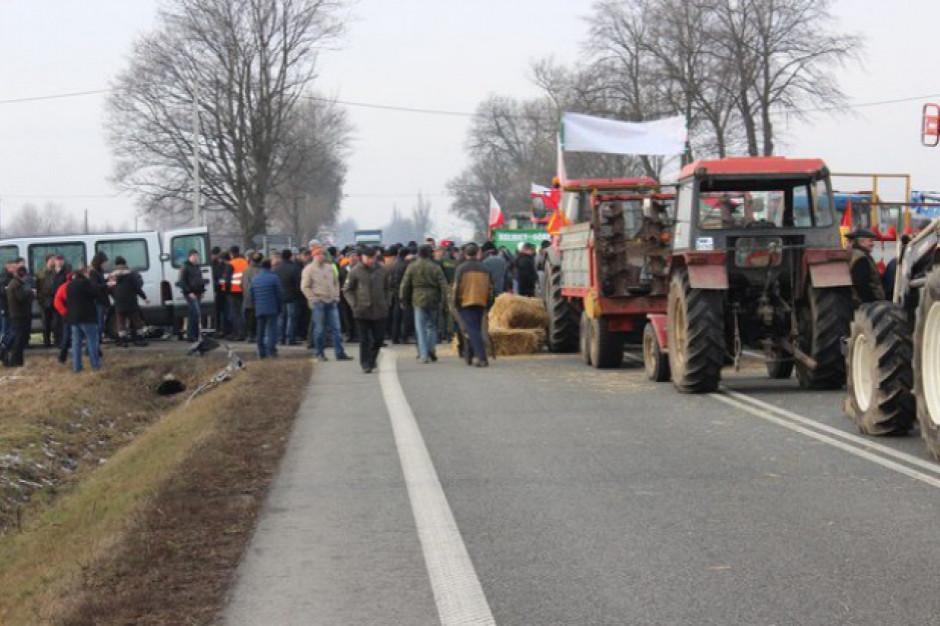 Protest rolników w woj. łódzkim