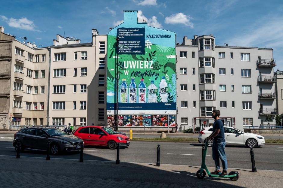 Nałęczowianka przygotowała mural pochłaniający zanieczyszczenia