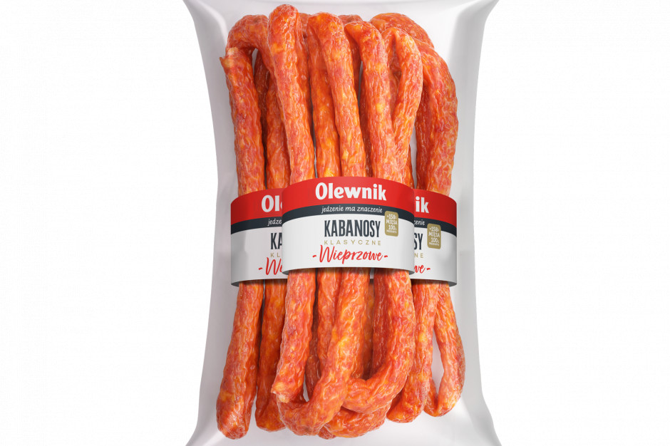 Nowość Grupy Olewnik - kabanosy klasyczne wieprzowe w nowej odsłonie
