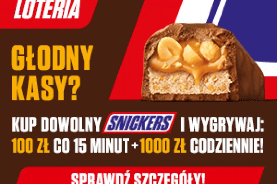 Loteria Snickers: 100 zł co 15 minut i 1000 zł codziennie