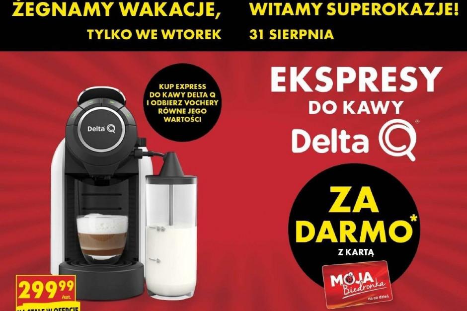 Biedronka: voucher o wartości 299 zł za zakup ekspresu do kawy