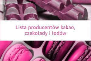 Lista producentów kakao, czekolady i lodów