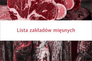 Lista 400 zakładów mięsnych na polskim rynku